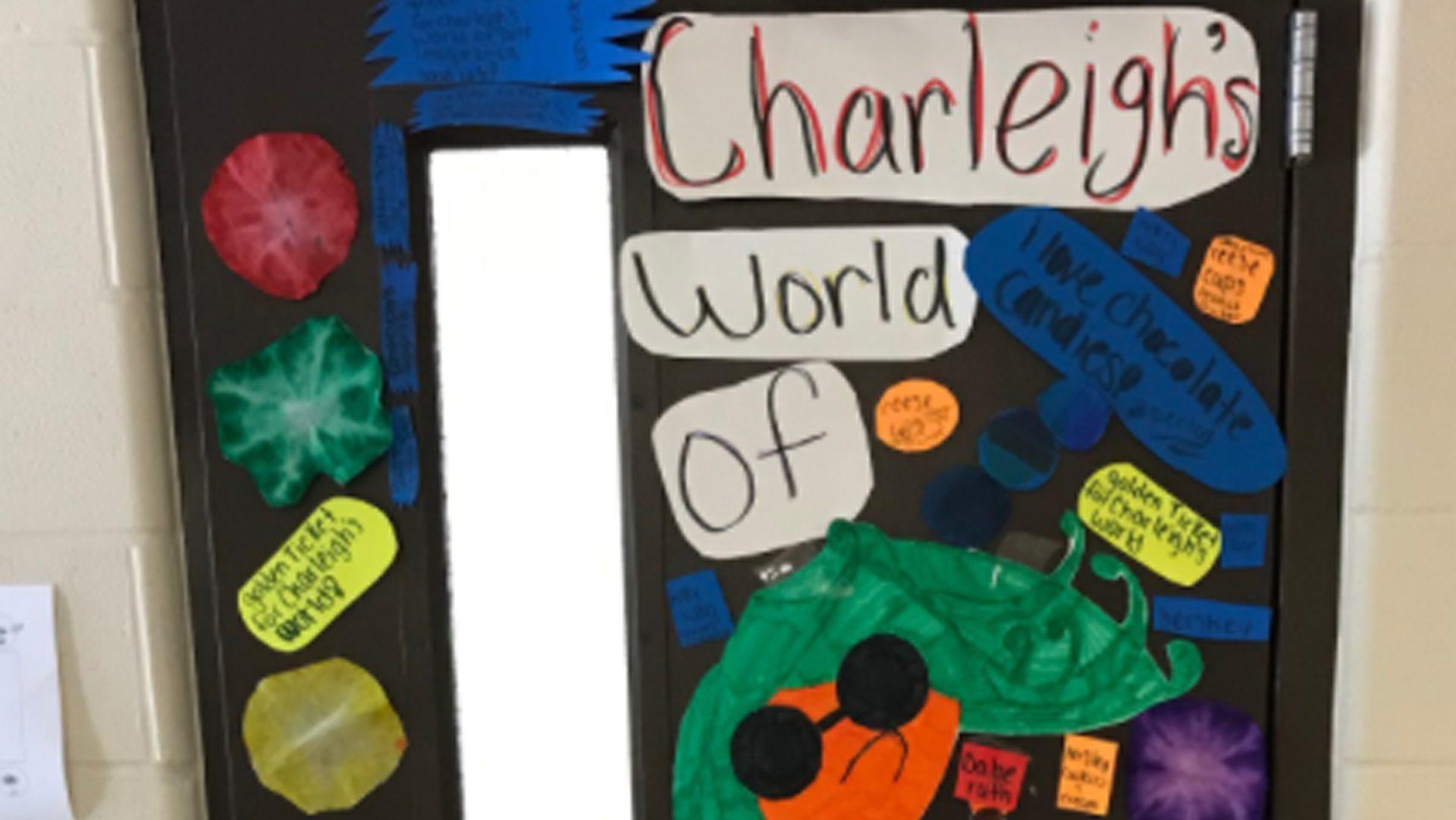 Charlies World of Imagination Door Decoration