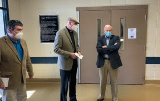 Congressman Pence and Wernle visit